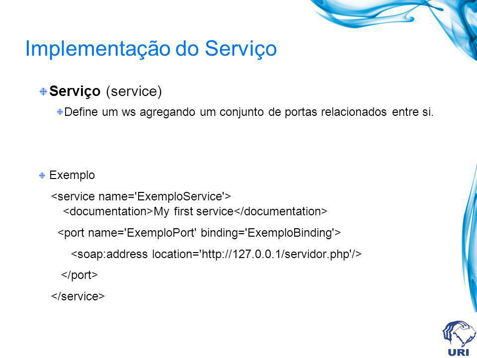 Implementação do Serviço