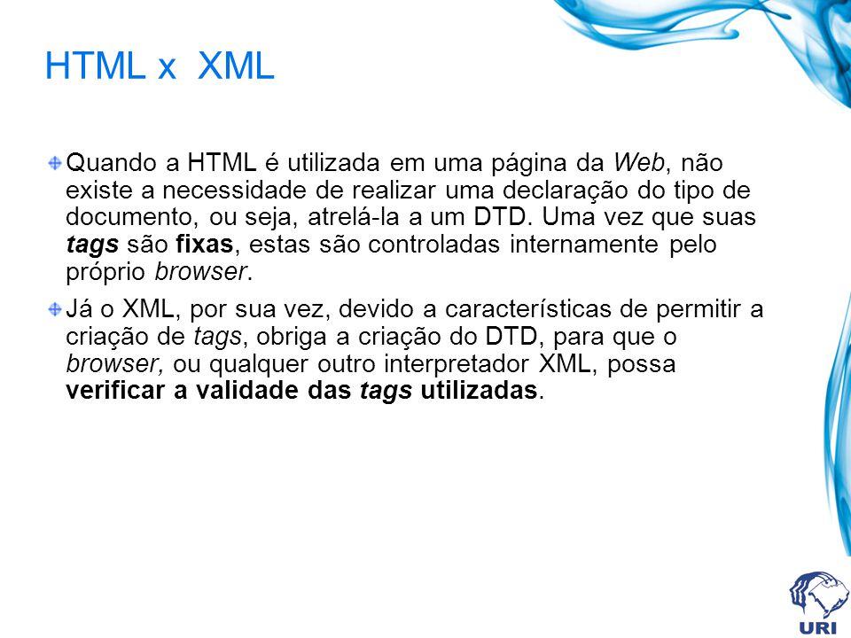 HTML x XML