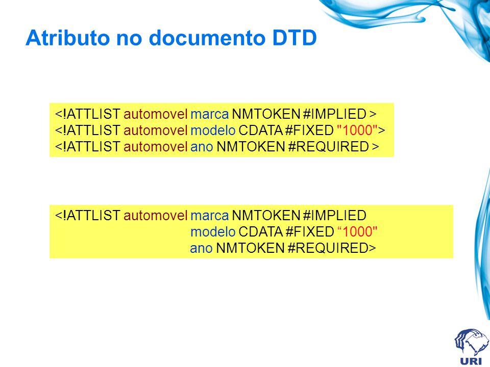 Atributo no documento DTD