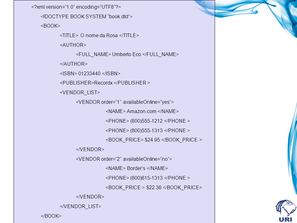 <. xml version= 1. 0 encoding= UTF8 . > <