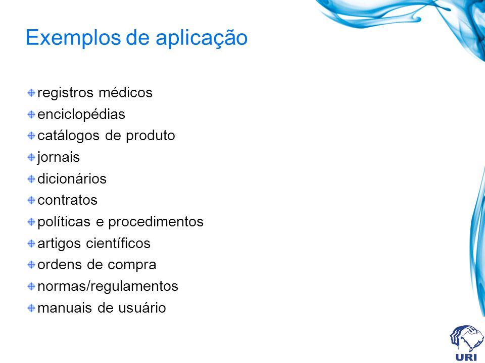 Exemplos de aplicação registros médicos enciclopédias