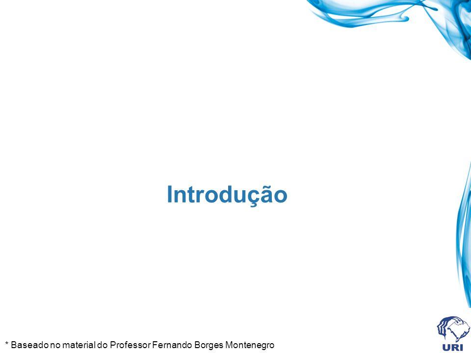 Introdução * Baseado no material do Professor Fernando Borges Montenegro