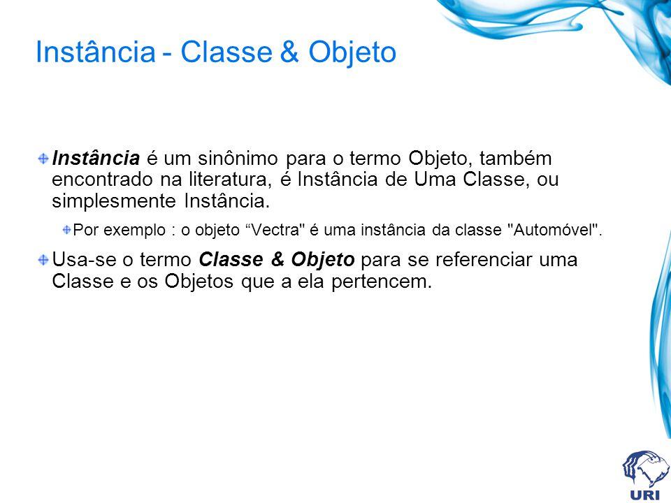 Instância - Classe & Objeto