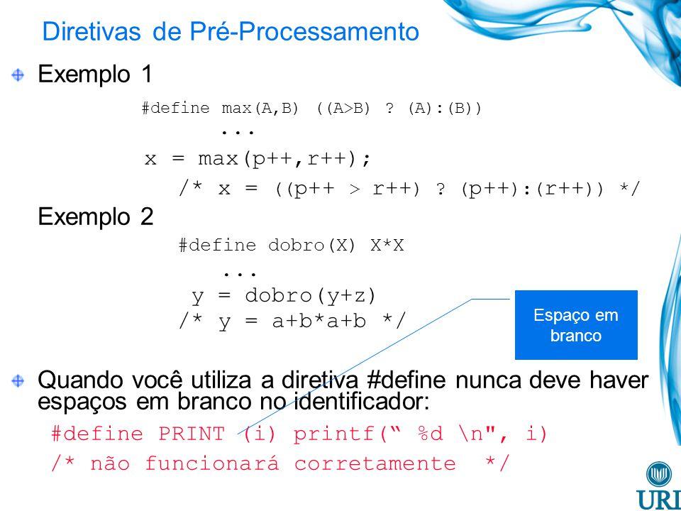 Diretivas de Pré-Processamento