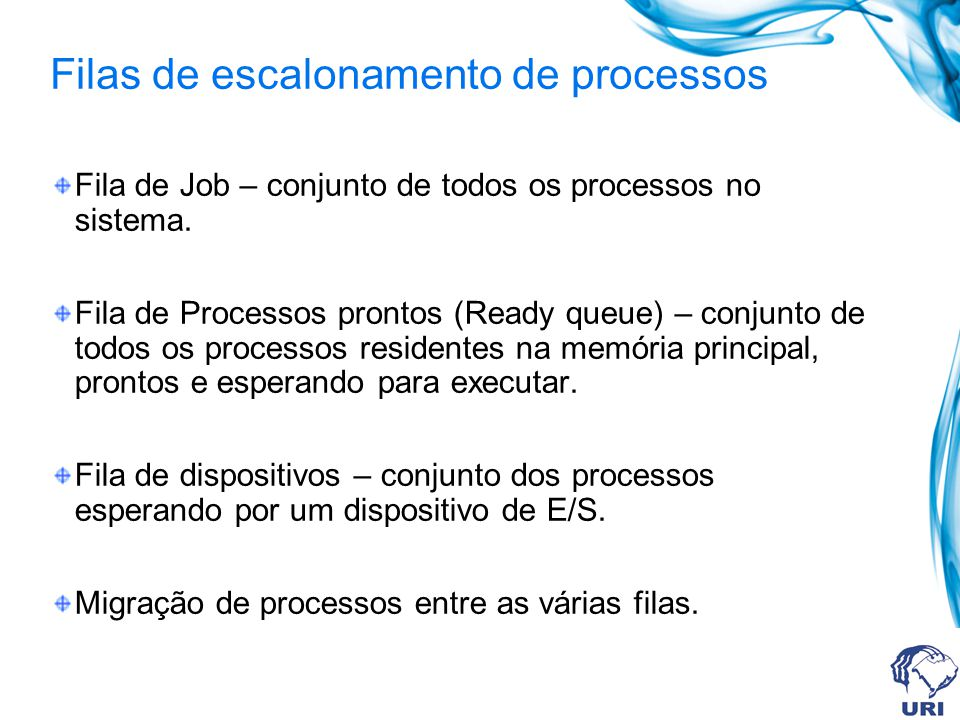 Filas de escalonamento de processos