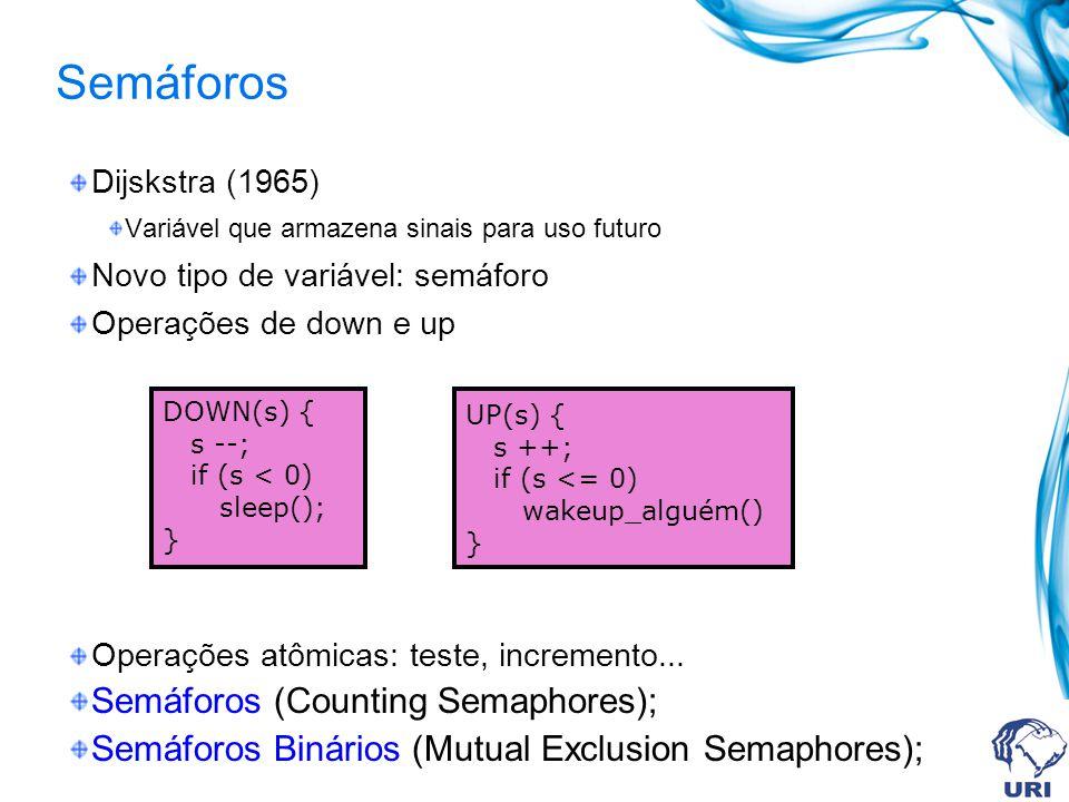 Semáforos Semáforos (Counting Semaphores);