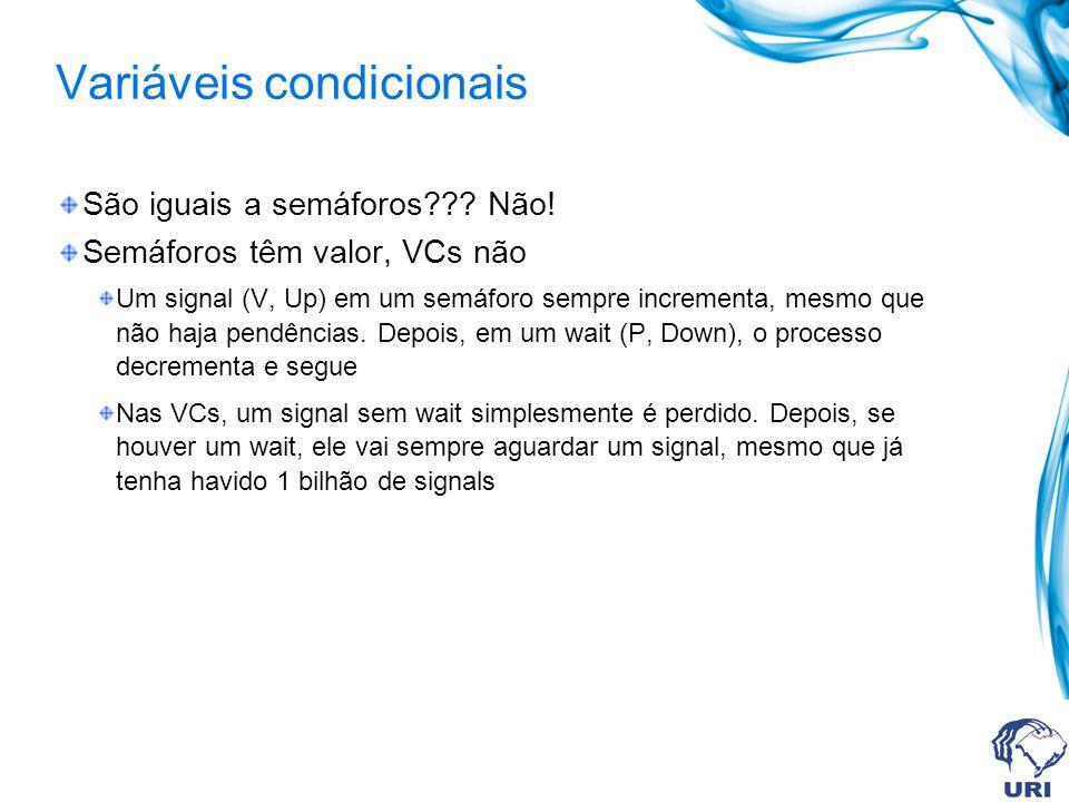 Variáveis condicionais