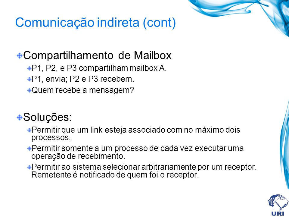 Comunicação indireta (cont)