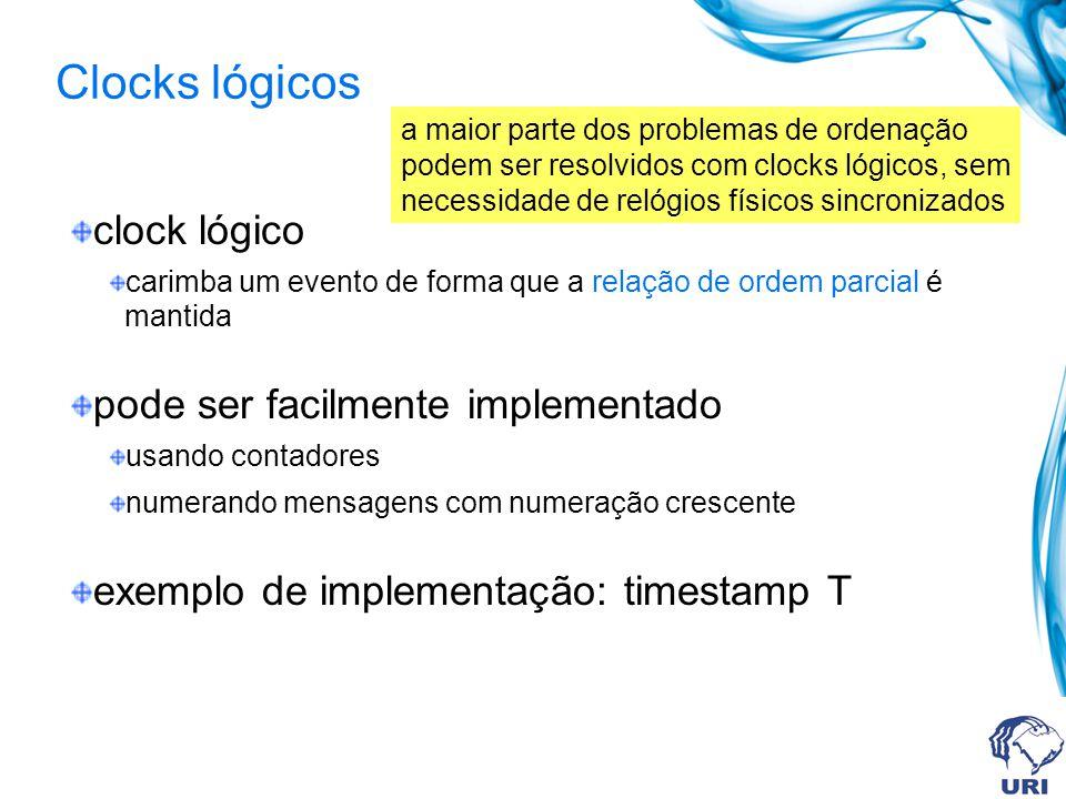 Clocks lógicos clock lógico pode ser facilmente implementado