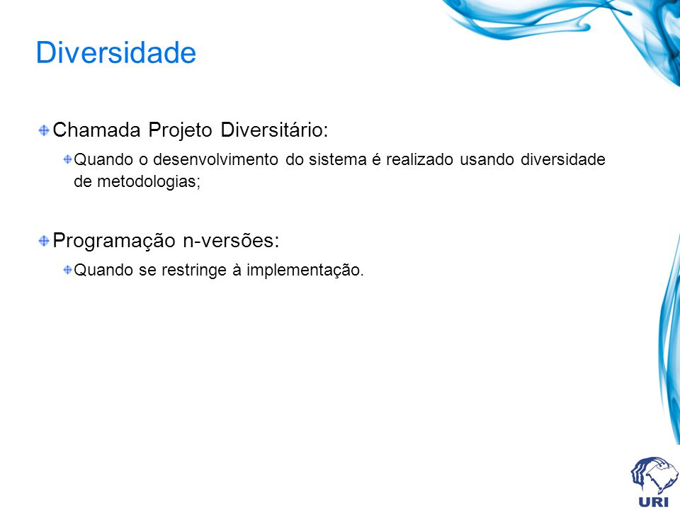 Diversidade Chamada Projeto Diversitário: Programação n-versões: