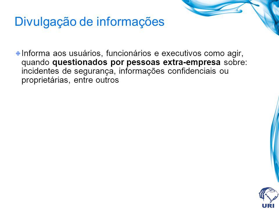 Divulgação de informações
