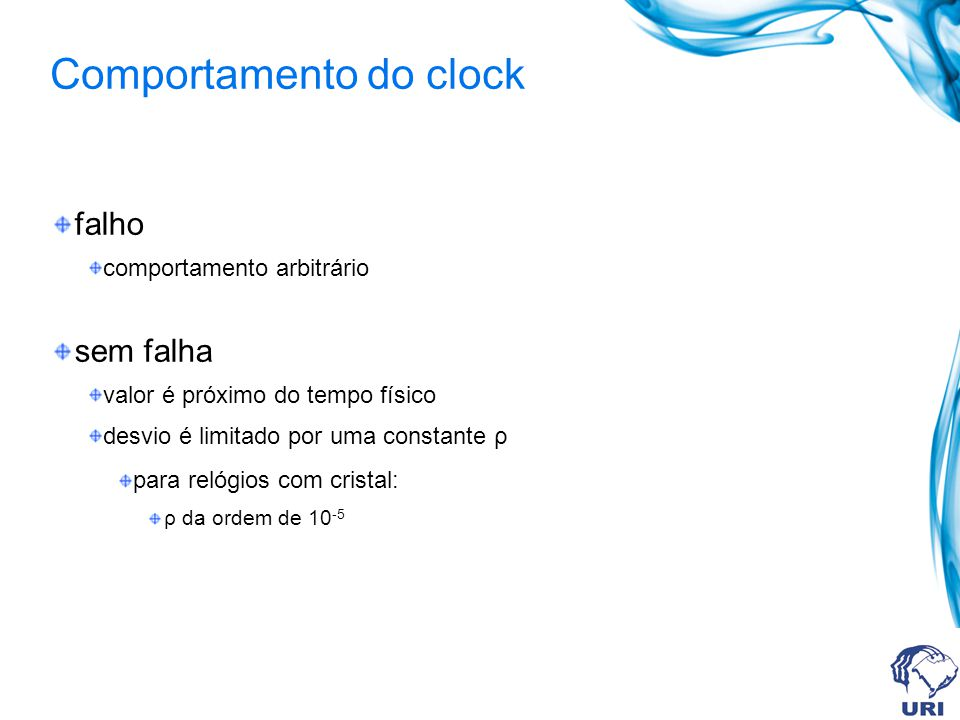 Comportamento do clock
