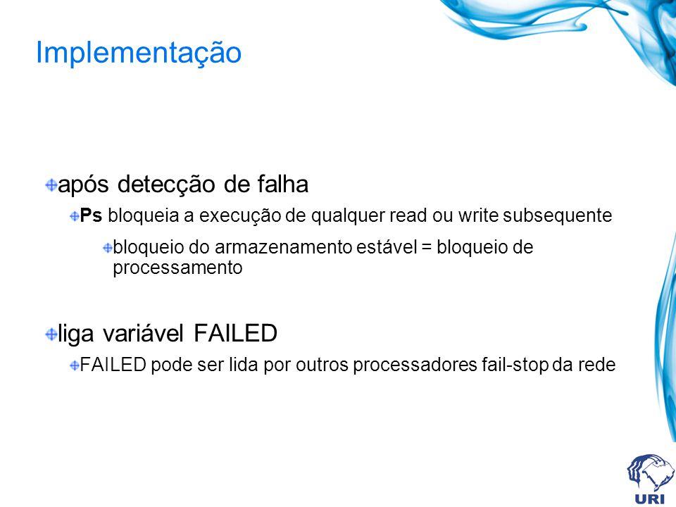 Implementação após detecção de falha liga variável FAILED