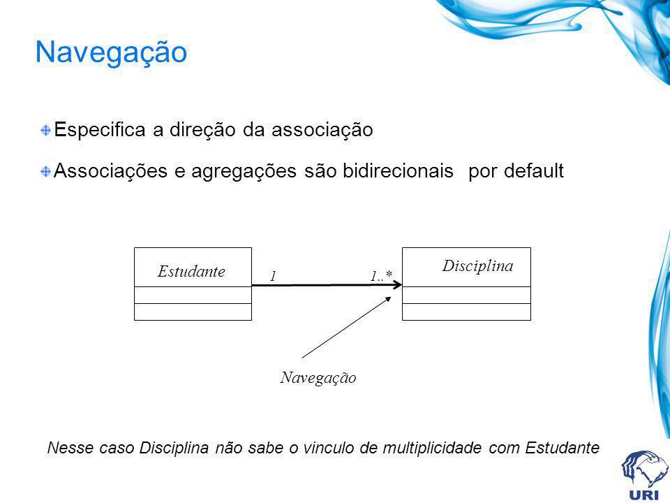 Navegação Especifica a direção da associação
