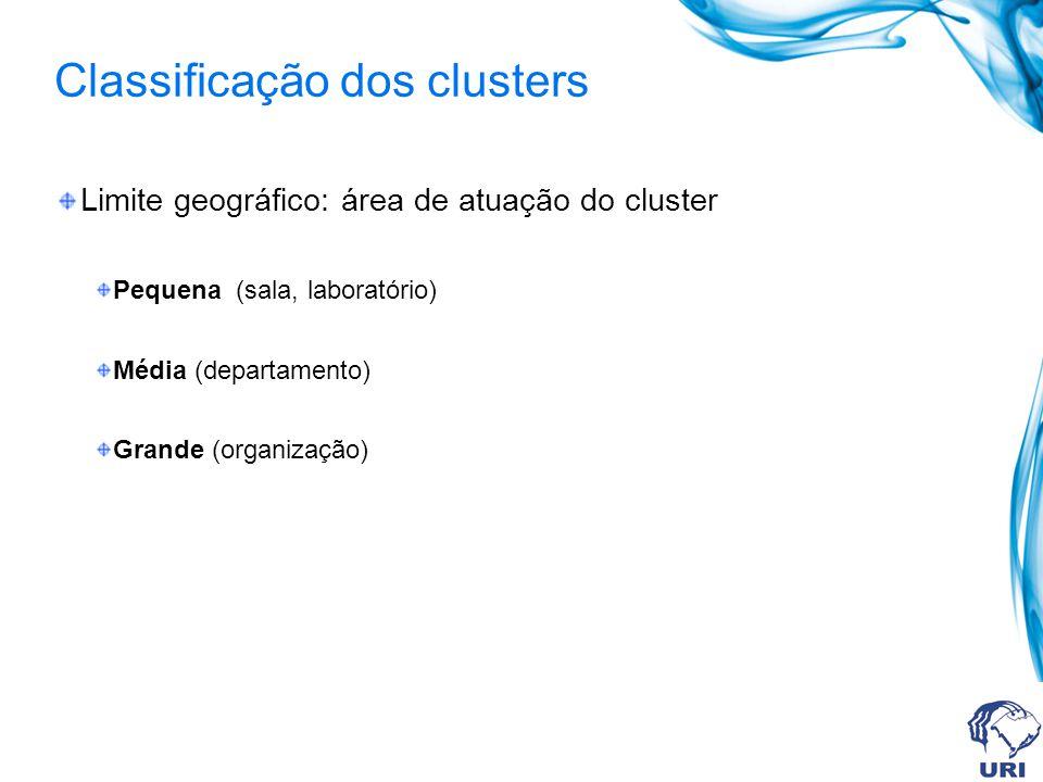 Classificação dos clusters