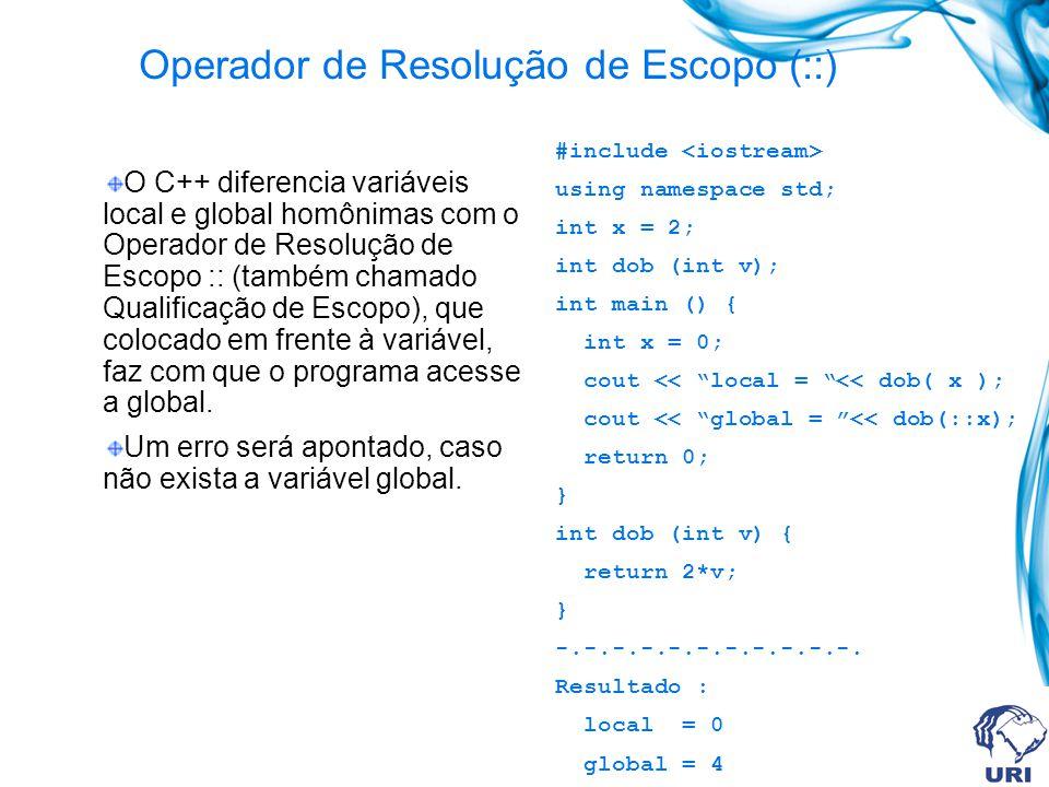 Operador de Resolução de Escopo (::)