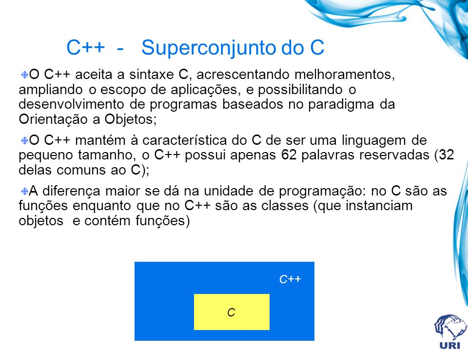 C++ - Superconjunto do C