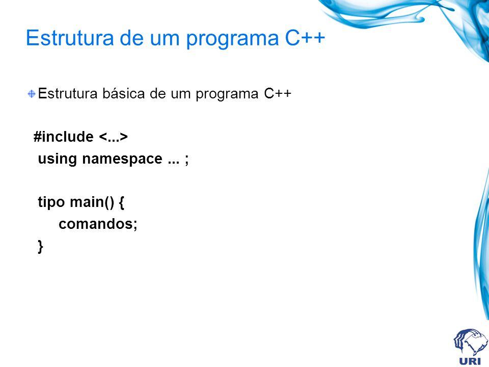 Estrutura de um programa C++