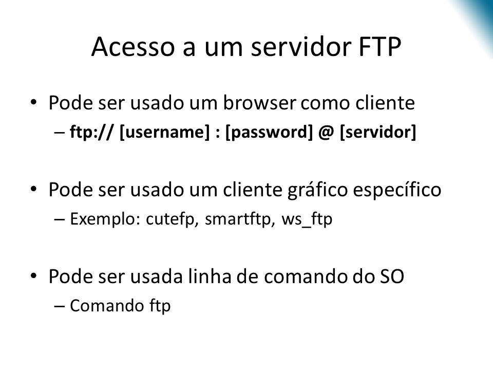 Acesso a um servidor FTP