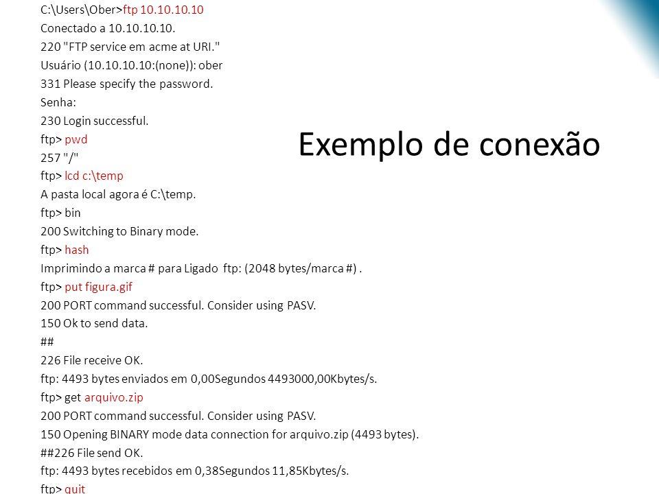 C:\Users\Ober>ftp 10. 10. 10. 10 Conectado a 10. 10. 10. 10