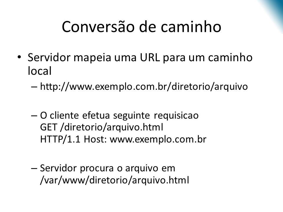 Conversão de caminho Servidor mapeia uma URL para um caminho local