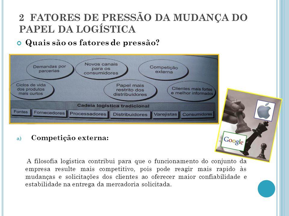 2 FATORES DE PRESSÃO DA MUDANÇA DO PAPEL DA LOGÍSTICA