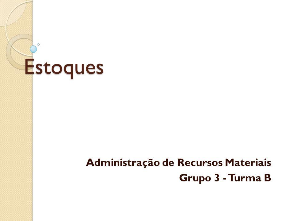 Administração de Recursos Materiais Grupo 3 - Turma B