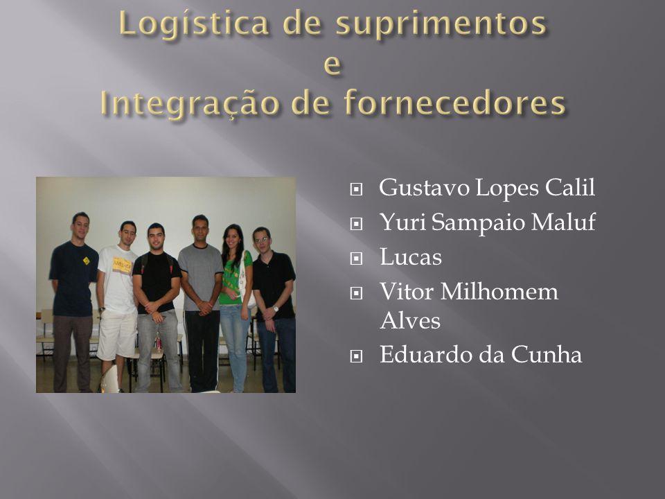 Logística de suprimentos e Integração de fornecedores