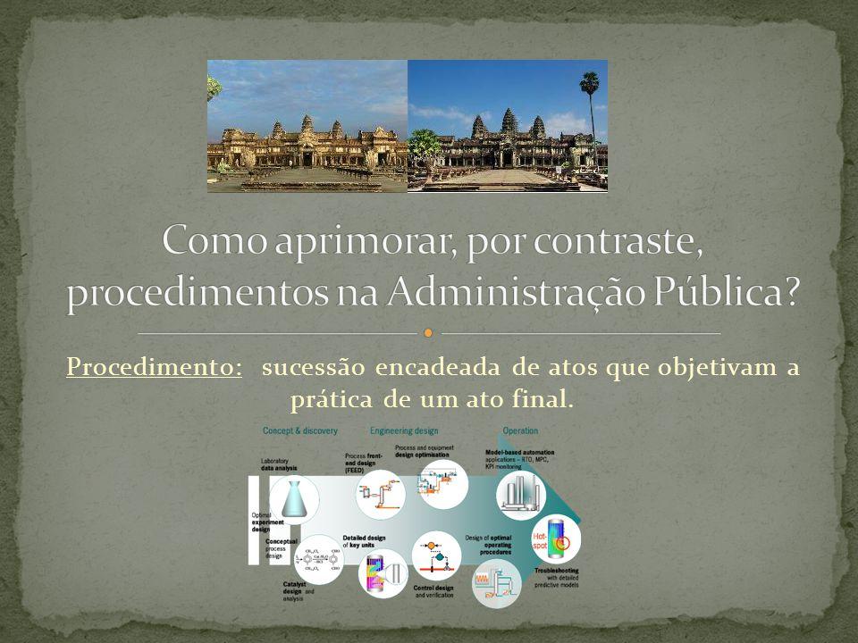 Como aprimorar, por contraste, procedimentos na Administração Pública