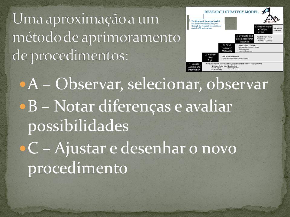 Uma aproximação a um método de aprimoramento de procedimentos: