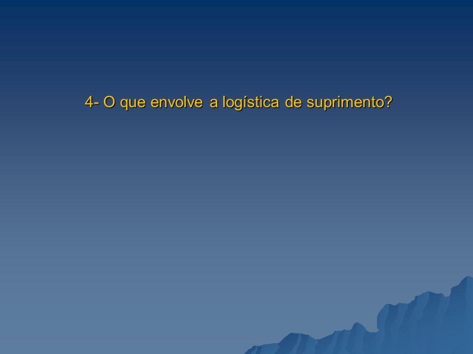 4- O que envolve a logística de suprimento