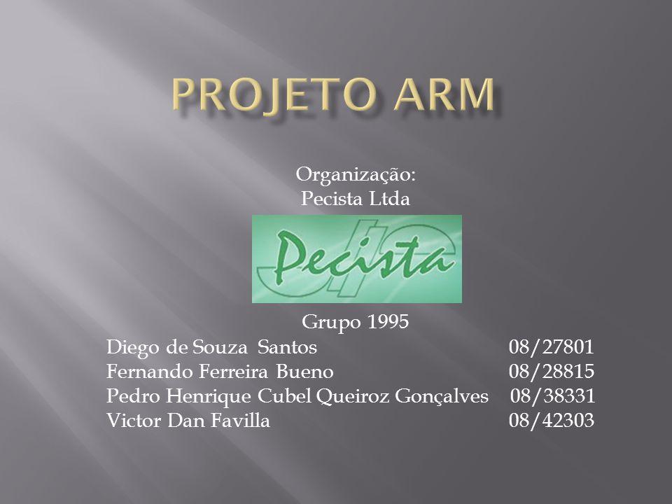 Projeto ARM Organização: Pecista Ltda Grupo 1995