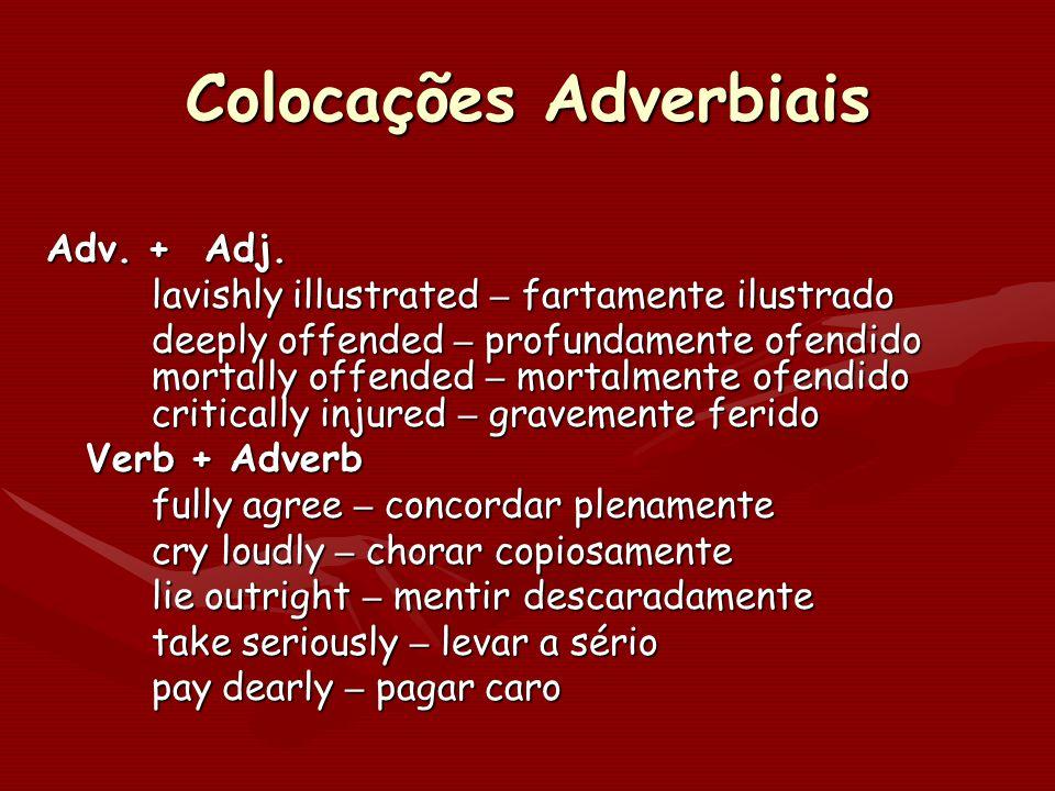 Colocações Adverbiais