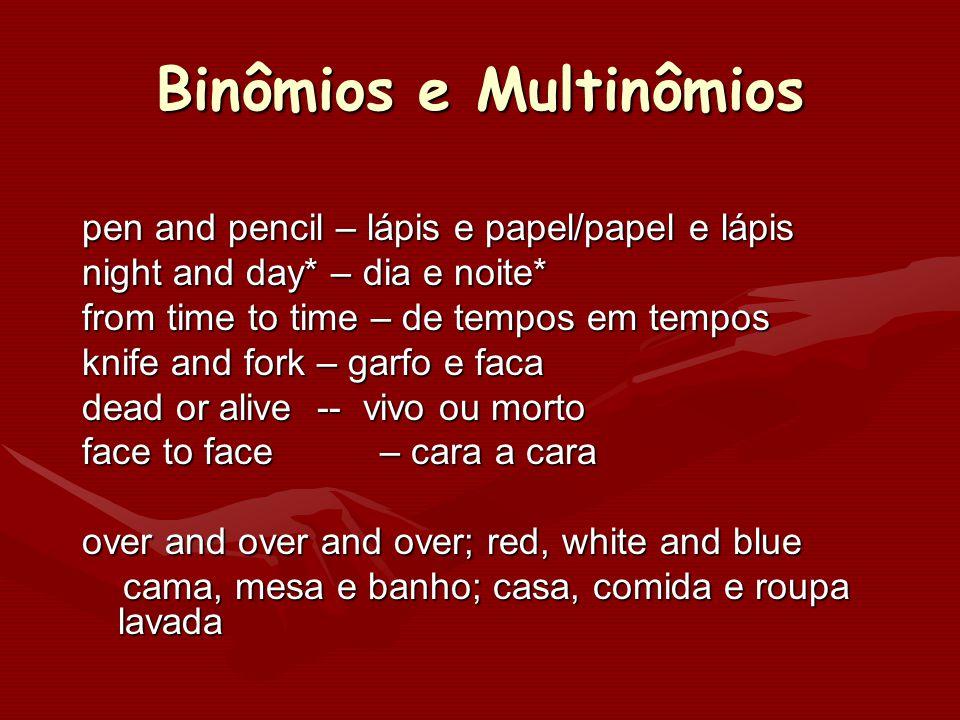 Binômios e Multinômios