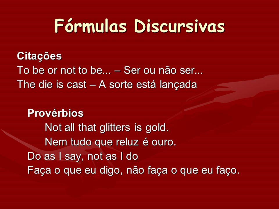 Fórmulas Discursivas Citações