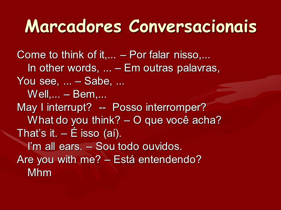 Marcadores Conversacionais