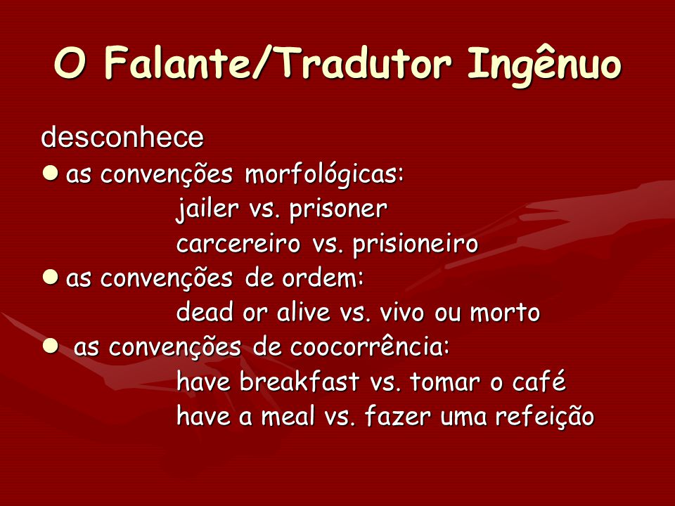 O Falante/Tradutor Ingênuo