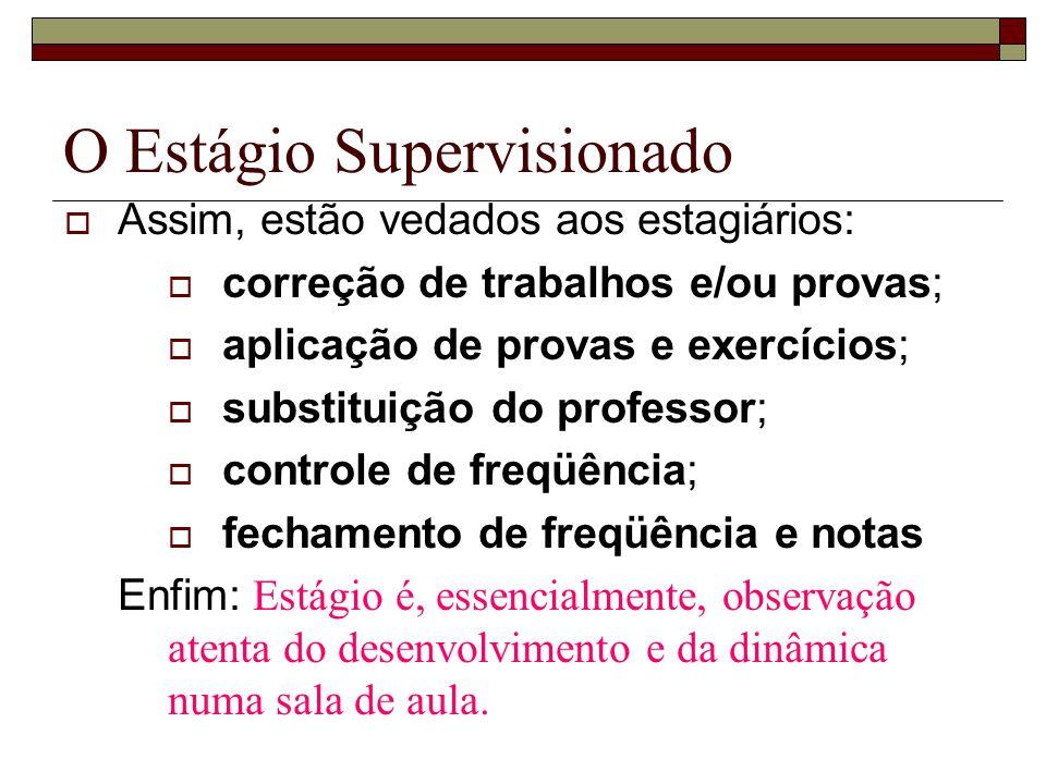 O Estágio Supervisionado