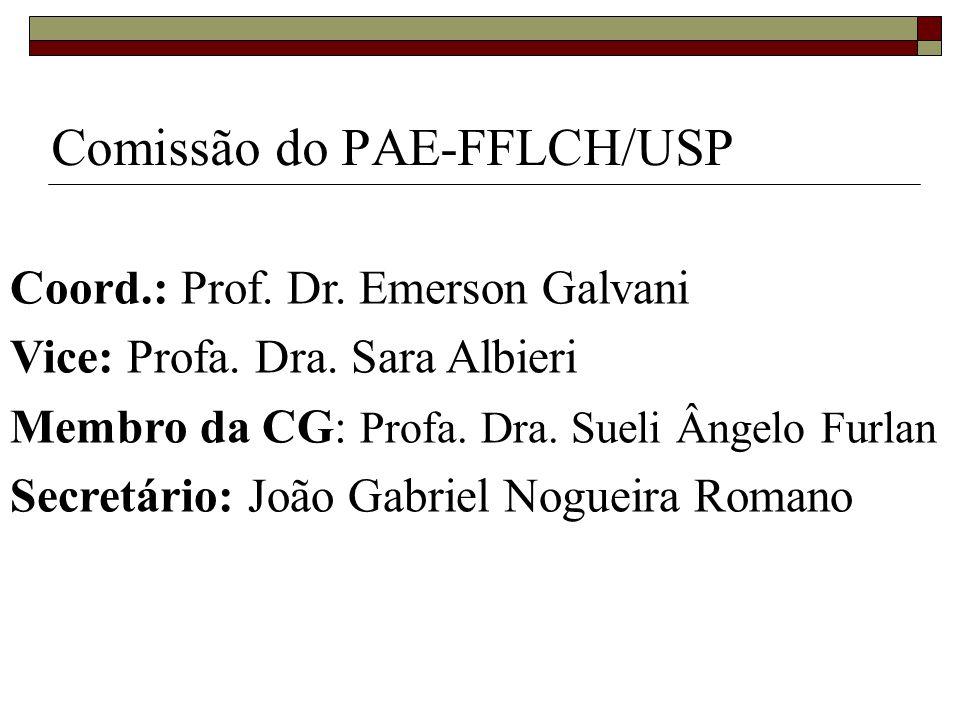 Comissão do PAE-FFLCH/USP