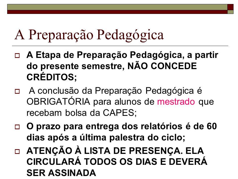 A Preparação Pedagógica