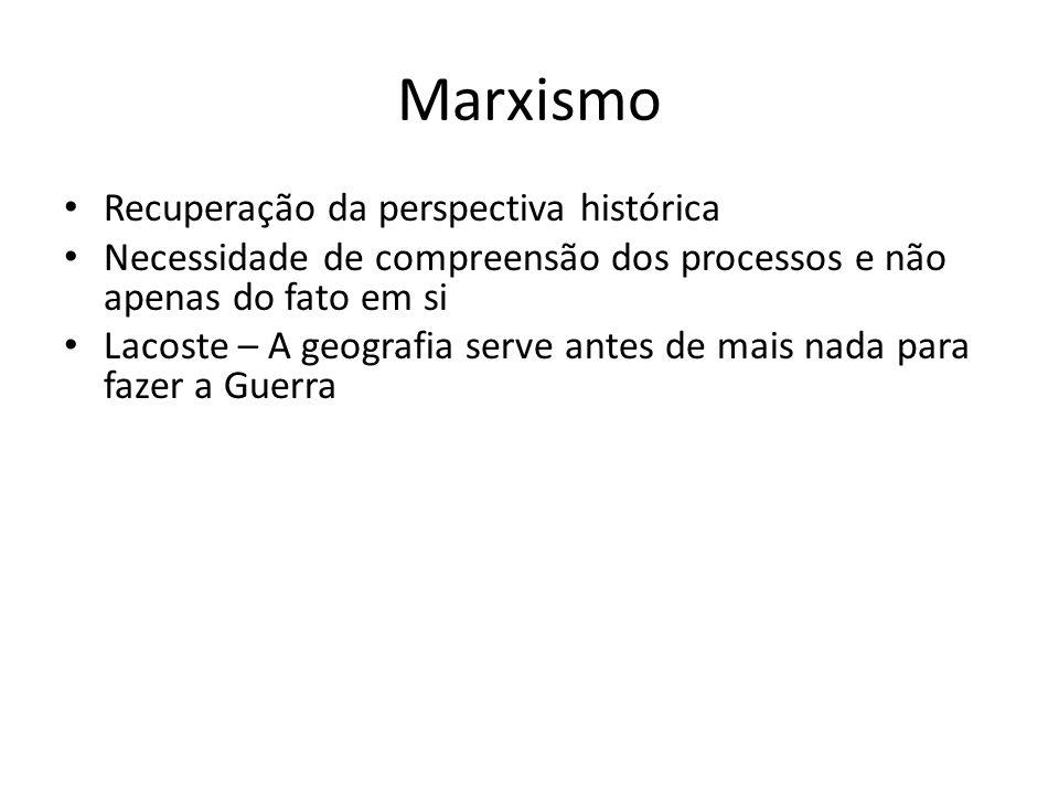 Marxismo Recuperação da perspectiva histórica