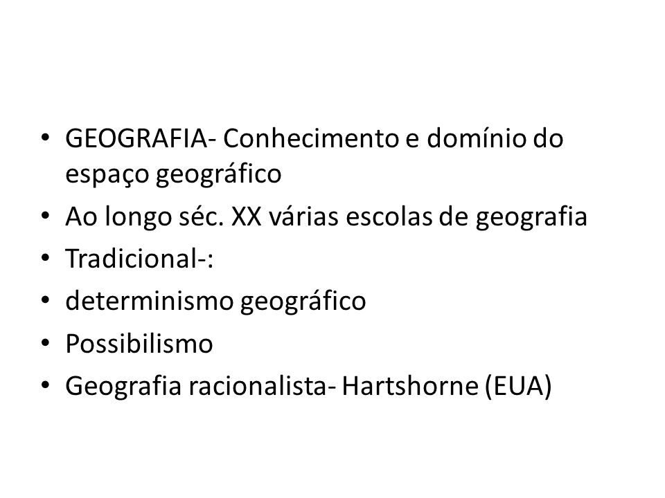 GEOGRAFIA- Conhecimento e domínio do espaço geográfico