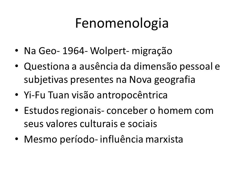 Fenomenologia Na Geo- 1964- Wolpert- migração