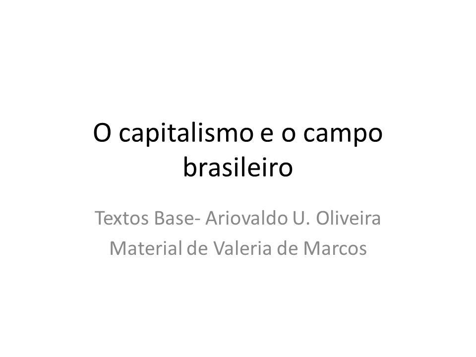 O capitalismo e o campo brasileiro