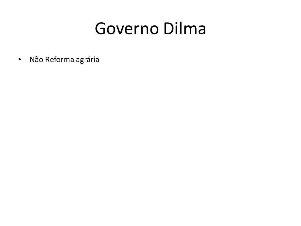 Governo Dilma Não Reforma agrária