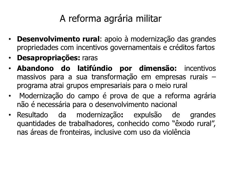 A reforma agrária militar