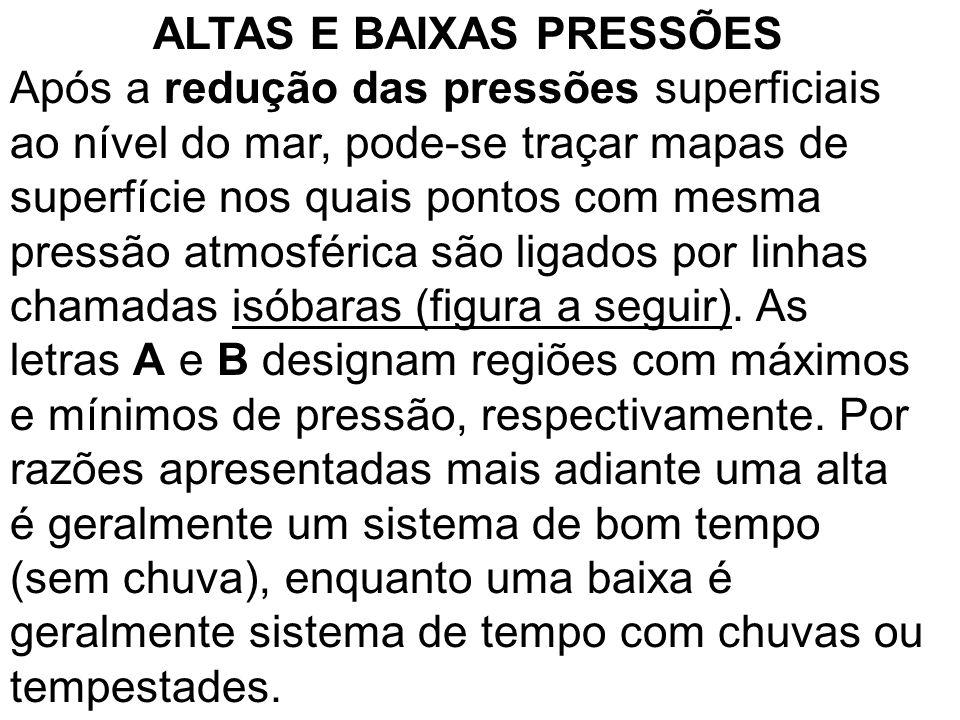 ALTAS E BAIXAS PRESSÕES
