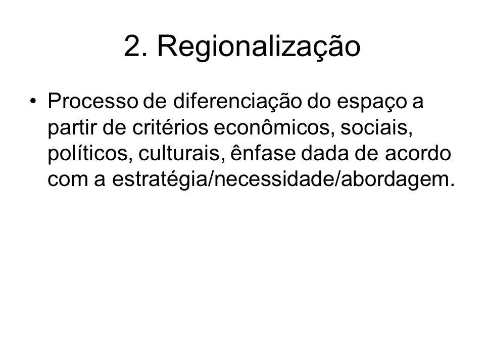 2. Regionalização
