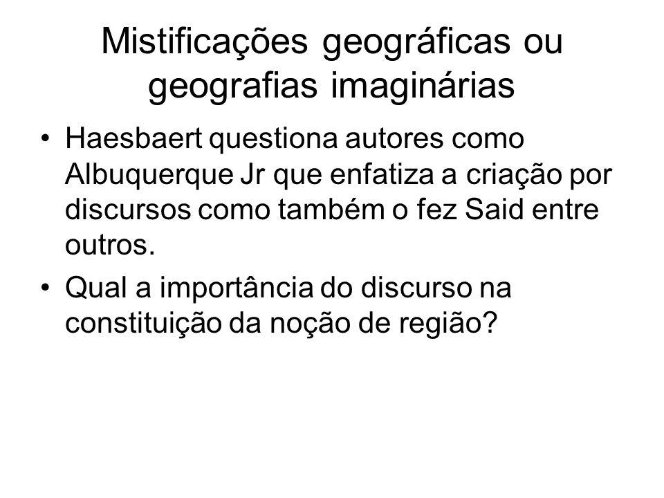 Mistificações geográficas ou geografias imaginárias