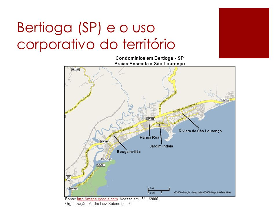 Bertioga (SP) e o uso corporativo do território